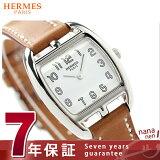 エルメス ケープ コッド トノー 27mm レディース 腕時計 CT1.210.130.VBA HERMES クオーツ レザーバンド ホワイト×ナチュラル 新品