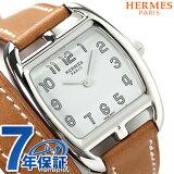 エルメス ケープ コッド トノー 27mm 二重巻き レディース CT1.210.130.VBA1 HERMES 腕時計 クオーツ レザーバンド ホワイト×ナチュラル 新品