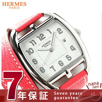 Hermes Cape Cod tonneau 34 mm double winding ladies CT1.710.130.OOA52 HERMES watches quartz leather band White x red brand new