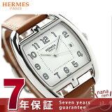エルメス ケープ コッド トノー 34mm レディース 腕時計 CT1.710.130.VBA HERMES クオーツ レザーバンド ホワイト×ナチュラル 新品【あす楽対応】