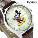 ディズニー ミッキー クラシック タイム コレクション DIN005SLTN インガソール 腕時計 シルバー×ブラウン