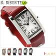 イルビゾンテ 腕時計 レディース ホワイト レザーベルト IL Bisonte H0408
