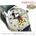 ディズニー ミッキー クラシック タイム コレクション ZR26163 インガソール 腕時計 アイボリー×グリーン