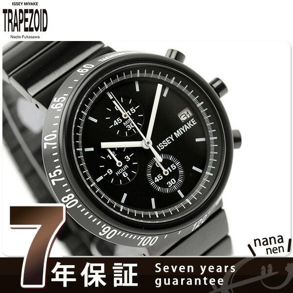【ショッパー プレゼント♪】イッセイミヤケ 腕時計 メンズ トラペゾイド クロノグラフ ブラック ISSEY MIYAKE SILAZ001 [新品][7年保証][送料無料]