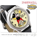 ディズニー ミッキ— 30'sコレクション 復刻モデル ZR25833 インガソール 腕時計 アイボリー×ブラック
