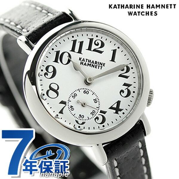 キャサリン ハムネット スモールセコンド ベイビー 日本製 KH70F9-01 KATHARINE HAMNETT レディース 腕時計 クオーツ ホワイト×ブラック [新品][7年保証][送料無料]【腕時計 ペア ブランド】