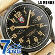 ルミノックス アタカマ フィールド デイデイト 腕時計 ブラック×ライトブラウンレザー LUMINOX 1925