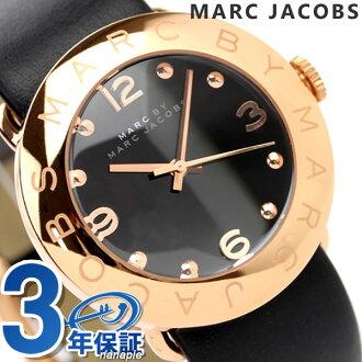 Mark by MARC BY marc jacobs MARC by MARC JACOBS Lady's clock Amy black leather belt MBM1225