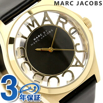 Mark by Mark Jacobs Henry skeleton watch black leather belt MARC by MARC JACOBS MBM1246