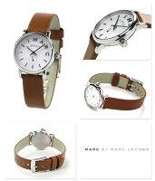 マークバイマークジェイコブスベイカー時計スモールセコンドレディースホワイト×ブラウンレザーベルトMARCbyMARCJACOBSMBM1270