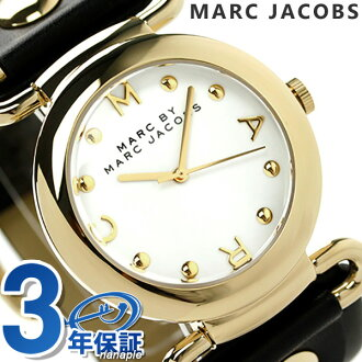 Mark by Mark Jacobs Molly women's MBM1304 MARC by MARC JACOBS watch Quartz White x black leather belt
