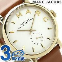 マークバイマークジェイコブスベイカーレディースMBM1316MARCbyMARCJACOBSクオーツ腕時計スモールセコンドホワイト×ブラウンレザーベルト