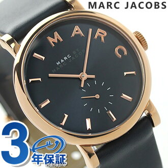 Mark by Mark Jacobs Baker seconds MBM1329 MARC by MARC JACOBS women's watch quartz Navy leather belt