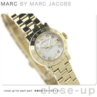 Mark by Mark Jacobs aimedinky clock crystal ladies white / gold MARC by MARC JACOBS MBM3226
