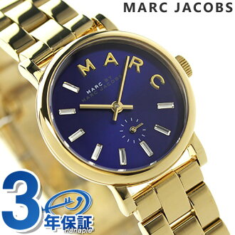 Mark by Mark Jacobs Baker seconds MBM3346 MARC by MARC JACOBS women's watch quartz mineral blue / gold