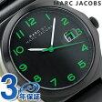 マーク バイ マーク ジェイコブス ジミー メンズ 腕時計 MBM5062 MARC by MARC JACOBS クオーツ オールブラック レザーベルト