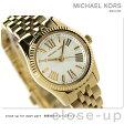 マイケル コース プチ レキシントン レディース 腕時計 MK3229 MICHAEL KORS クオーツ ホワイト×ゴールド