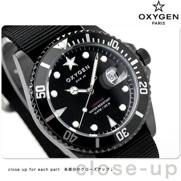 オキシゲン ダイバー 40 クオーツ 20mm MBB-40-BL 腕時計 OXYGEN モビーディック ブラック [新品][1年保証][送料無料]