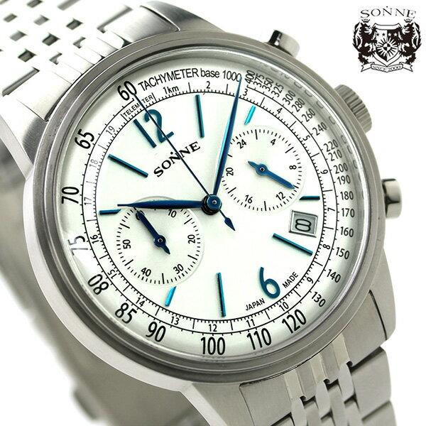 ゾンネ ヒストリカルコレクション クロノグラフ メンズ HI002SV SONNE 腕時計 シルバー [新品][1年保証][送料無料]