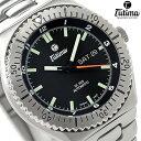 [新品][2年保証][送料無料]チュチマ DI 300 ダイバーズ チタン 自動巻き 629-02 ドイツ製 TUTIMA メンズ 腕時計 ブラック
