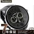 テンデンス ガリバー ラウンド クロノグラフ TG460010 TENDENCE 腕時計 クオーツ ブラック