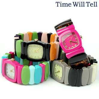 TIME WILL TELL thyme Teru Will Lady's watch multicolored