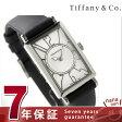 ティファニー ギャラリー 22mm レディース 腕時計 Z3001.10.10A21A68A TIFFANY&Co. クオーツ シルバー×ブラック カーフレザー 新品