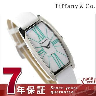 Tiffany GEMA large 22 mm ladies watch Z6401.10.10A29A48A TIFFANY & co. Quartz White southern leather new