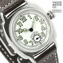 ヴァーグウォッチ 腕時計 メンズ スモールセコンド クッサン ホワイト×ダークブラウン レザーベルト VAGUE WATCH Co. CO-L-003