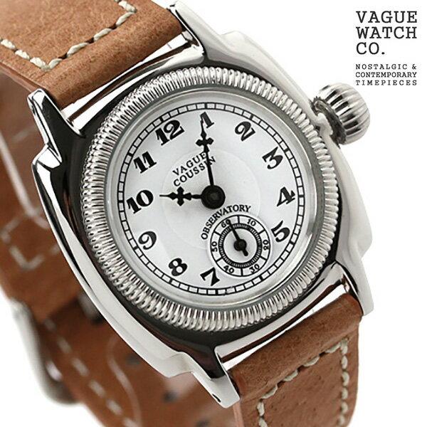 ヴァーグウォッチ 腕時計 レディース スモールセコンド クッサン ホワイト×ブラウン レザーベルト VAGUE WATCH Co. CO-S-001 [新品][1年保証][送料無料]