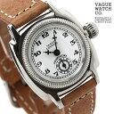 ヴァーグウォッチ 腕時計 レディース スモールセコンド クッサン ホワイト×ブラウン レザーベルト VAGUE WATCH Co. CO-S-001