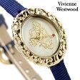 ヴィヴィアン・ウエストウッド 腕時計 レディース ロココ ホワイトシェル×ブルーレザー Vivienne Westwood VV005CMBL