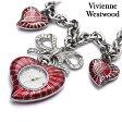 ヴィヴィアン・ウエストウッド 時計 レディース ハート チャーム ホワイト×レッド Vivienne Westwood VV018WHRD