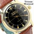 ヴィヴィアン・ウエストウッド 腕時計 メンズ グローブナー ブラック×ブラウン レザーベルト Vivienne Westwood VV064BKBR