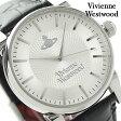 ヴィヴィアン・ウエストウッド フィンズバリー メンズ VV065SLBK Vivienne Westwood 腕時計 クオーツ シルバー×ブラック レザーベルト
