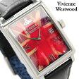 ヴィヴィアン・ウエストウッド 腕時計 メンズ ユニオンジャック柄×ブラック レザーベルト Vivienne Westwood VV066SLBK