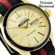 ヴィヴィアン・ウエストウッド カムデン ロック 2 VV068GDBK Vivienne Westwood メンズ 腕時計 デイデイト クオーツ ゴールド×ブラック レザーベルト【あす楽対応】