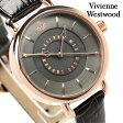 ヴィヴィアン・ウエストウッド 腕時計 レディース チャコールグレー レザーベルト Vivienne Westwood VV076CHCH