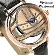 ヴィヴィアン・ウエストウッド 腕時計 レディース ローズゴールド×ダークグレー レザーベルト Vivienne Westwood VV076RSGY