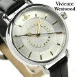 ヴィヴィアン・ウエストウッド 腕時計 レディース シルバー×ブラック レザーベルト Vivienne Westwood VV076SLBK