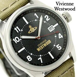 ヴィヴィアン・ウエストウッド バトラーズ ワーフ VV079BKGR Vivienne Westwood メンズ 腕時計 クオーツ ブラック×カーキ 時計【あす楽対応】