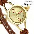 ヴィヴィアン・ウエストウッド 腕時計 レディース ゴールド×ブラウン レザーベルト Vivienne Westwood VV081GDBR