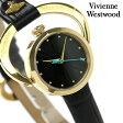 ヴィヴィアン・ウエストウッド 腕時計 レディース ブラック レザーベルト Vivienne Westwood VV082BKBK