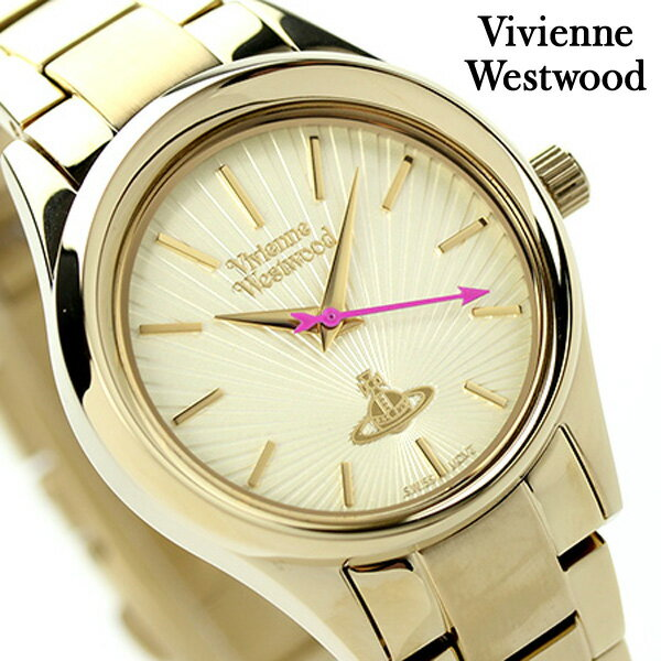 ヴィヴィアン・ウエストウッド ホロウェイ レディース VV111GD Vivienne Westwood 腕時計 クオーツ ゴールド [新品][1年保証]