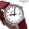 MONDAINE モンディーン 腕時計 Evo エヴォ レディース レッドレザー×ホワイト A658.30301.11SBC