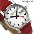 MONDAINE モンディーン 腕時計 Evo エヴォ ビッグデイト レディース レッドレザー×ホワイト A669.30305.11SBC