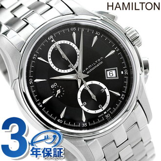 Hamilton self-winding watch jazz master automatic Kurono men H32616133 HAMILTON watch Jazzmaster Auto Chrono black