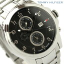 トミー ヒルフィガー TOMMY HILFIGER メンズ 腕時計 ブラック メタルベルト 1710296【あす楽対応】