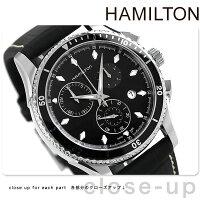 HAMILTONハミルトンJAZZMASTERSEAVIEWCHRONOシービュークロノメンズ腕時計ブラックカーフH37512731