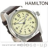 ハミルトン 自動巻き カーキ フィールドオート メンズ H70555523 HAMILTON 腕時計 Khaki Field Auto カーフ クリーム【あす楽対応】